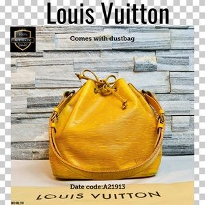 Louis Vuitton Shoulder bag petit noe epi yellow